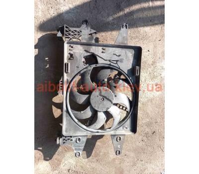 Вентилятор охлаждения радиатора Fiat Doblo Оригинал Б У  Fiat Doblo 2000 - 2010г.