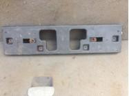 Накладка переднего бампера под номер лачетти
